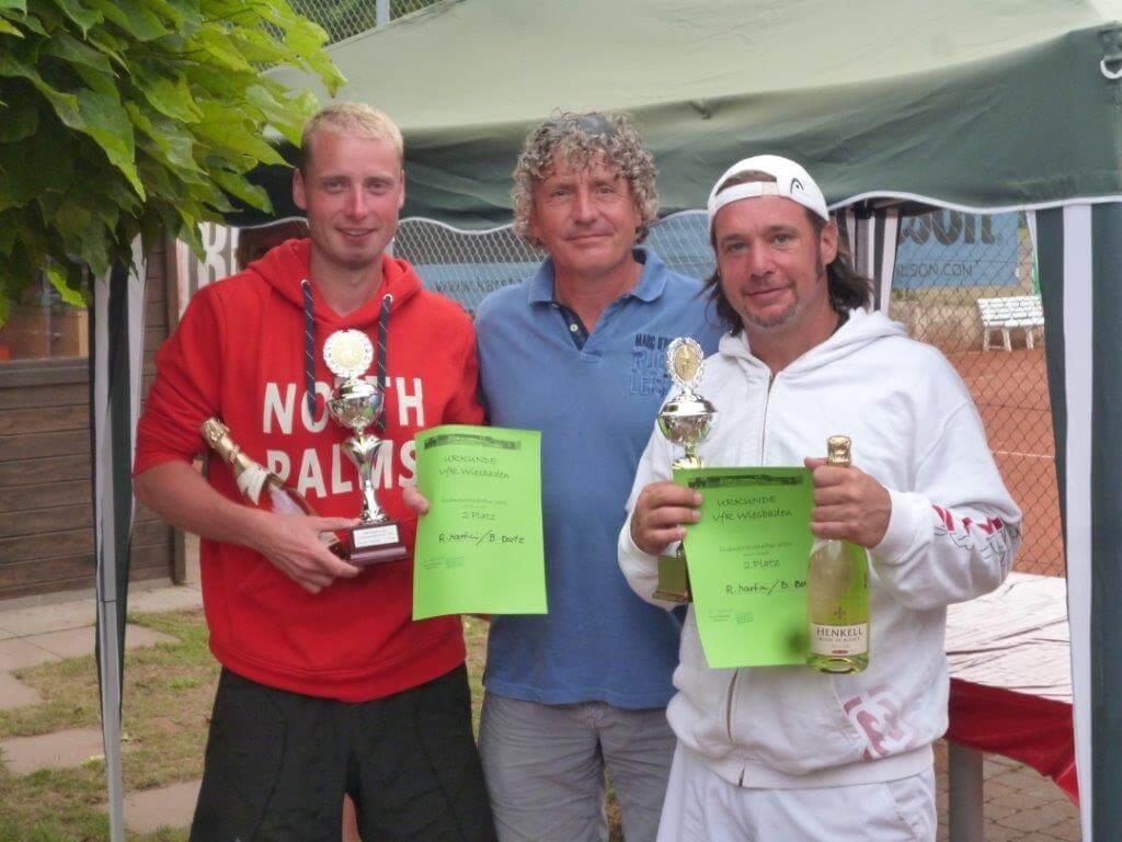 Siegerehrung Roman Martini und Benjamin Bartz 2015