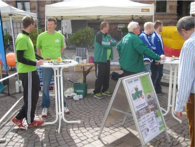 Vereinsstand VfR Wiesbaden am Tag der Sportvereine