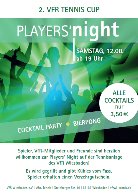 2. VfR Tennis Cup Players Night
