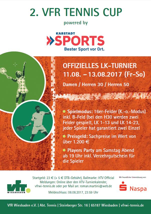 2. VfR Tennis Cup Plakat