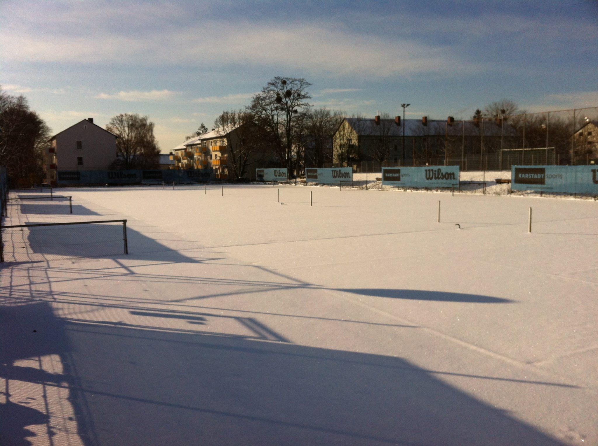 VfR Tennisanlage im Schnee